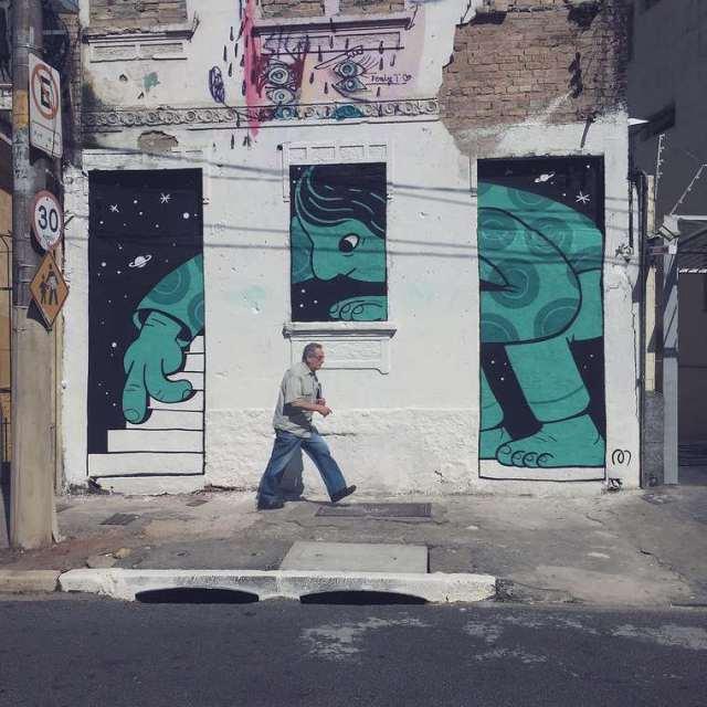 Divertidos murales callejeros de Muretz 6