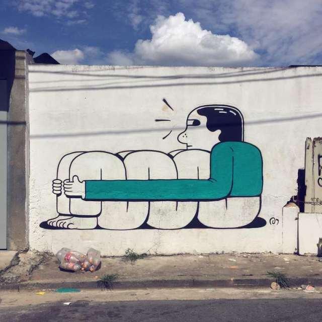 Divertidos murales callejeros de Muretz 8