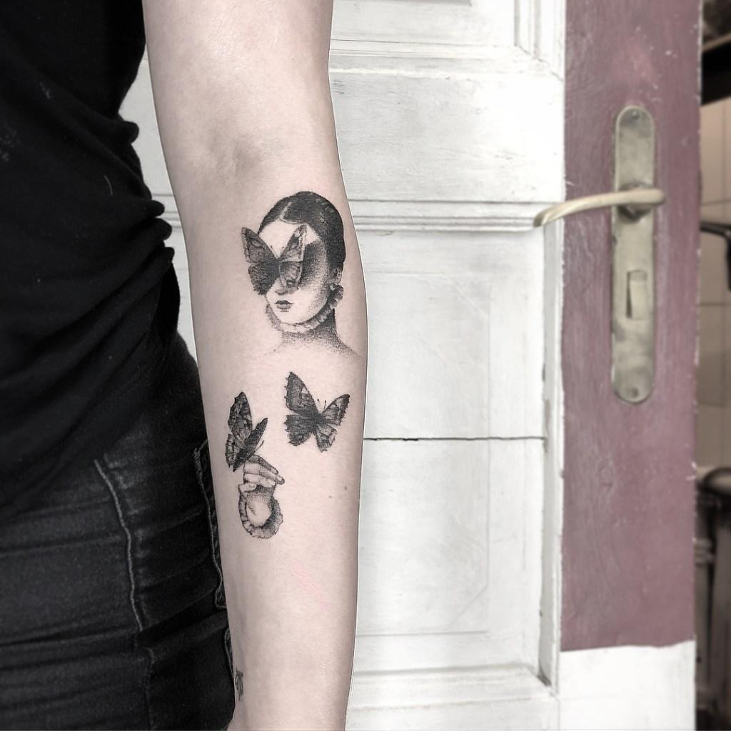 Fantásticos Tatuajes Blanco Y Negro De Lena Lu Arte Feed