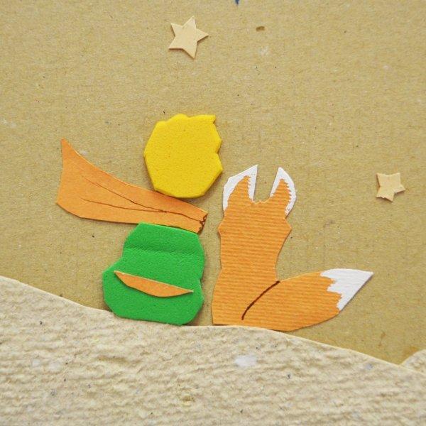 Quadretto Il Piccolo Principe, la volpe e la rosa · Arte Green