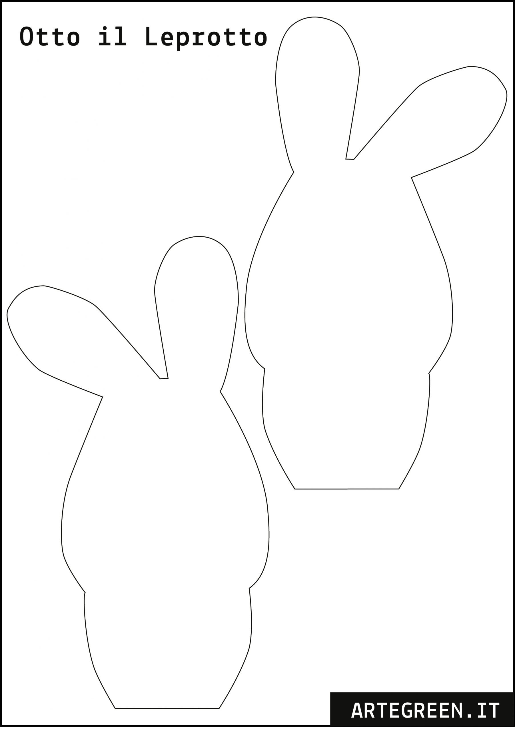 sagoma coniglio