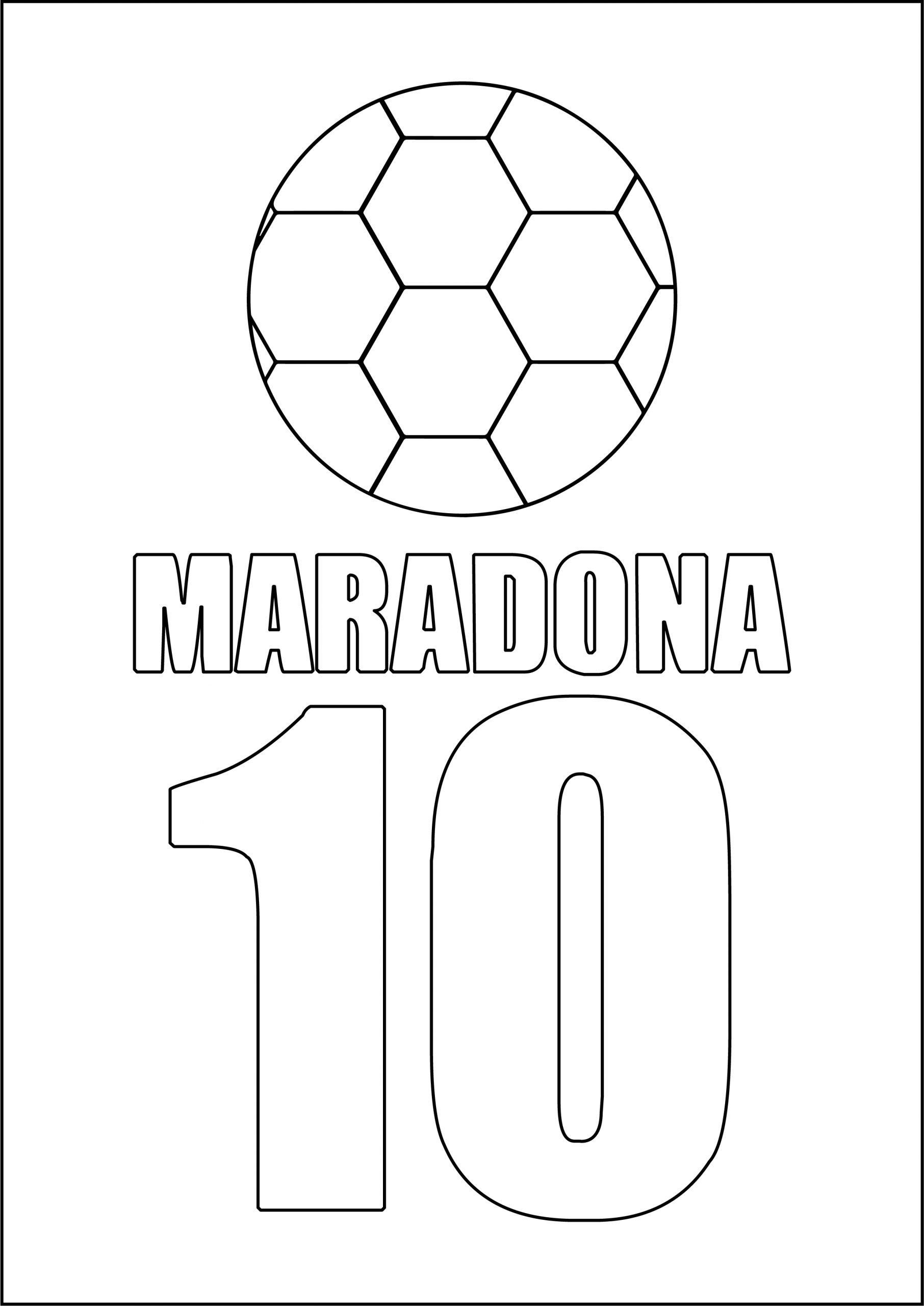 disegni maradona