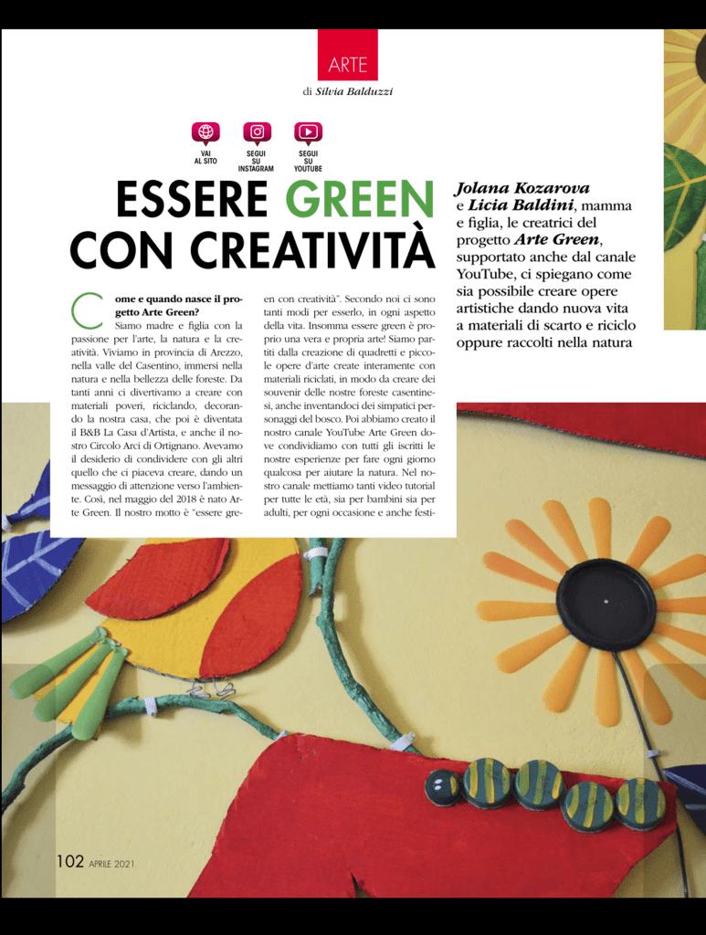 arte green riciclo creativo
