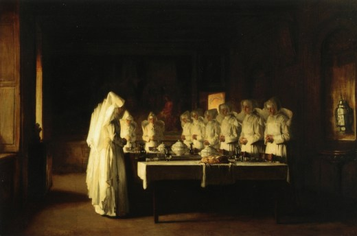 Sisters of Charity Saying Grace Before a Meal