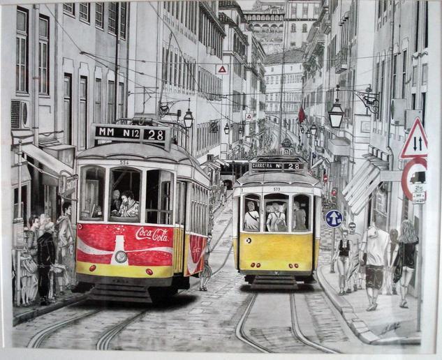 tranvias de Lisboa Tinta