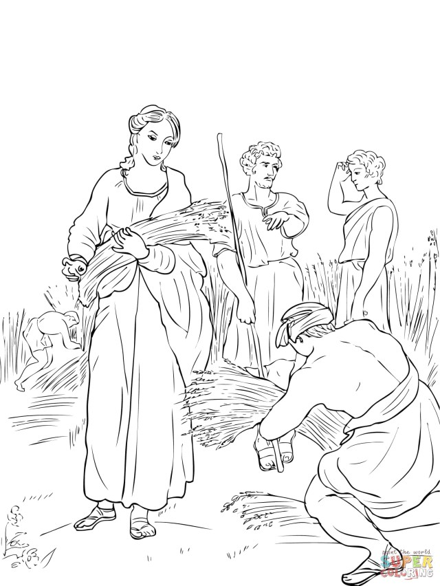 Bible Coloring Pages Of Ruth and Naomi