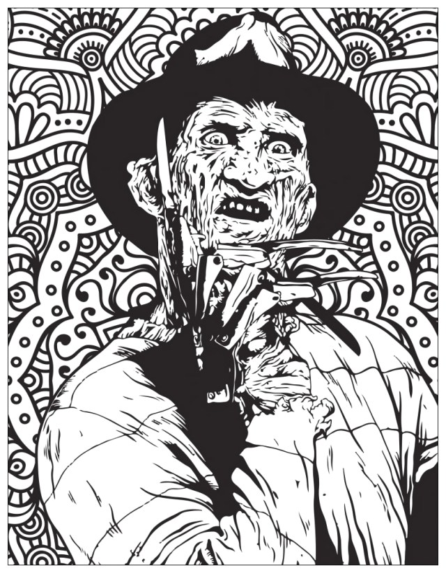 Creepy Horror Movie Coloring Pages for Adults