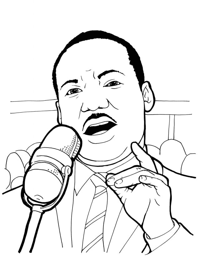 Martin Luther King Jr Coloring Pages Printable Free