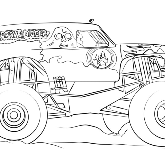 Coloring Pages Of Grave Digger Monster Truck