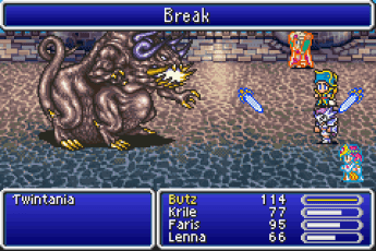 FFV Battle HUD