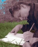 Writing in the park.