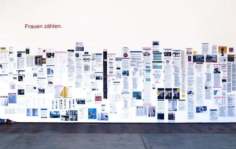 """Elisabeth Eberles Archiv """"Frauen* zählen"""", FATart, Schaffhausen, 2019"""