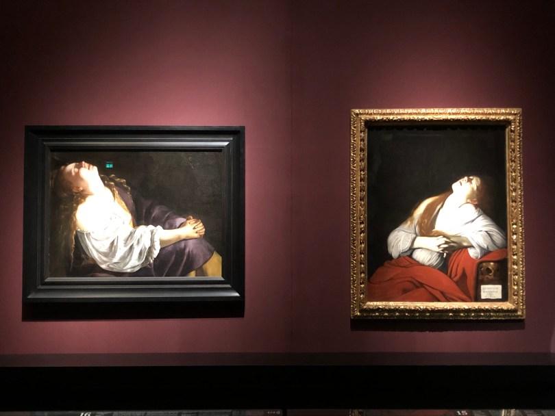 Artemisia Gentileschi, Maria Magdalena in Ekstase 1620/25 oder 1630/35, Louis Finson, Maria Magdalena in Ekstase, 1613, Foto: NiS