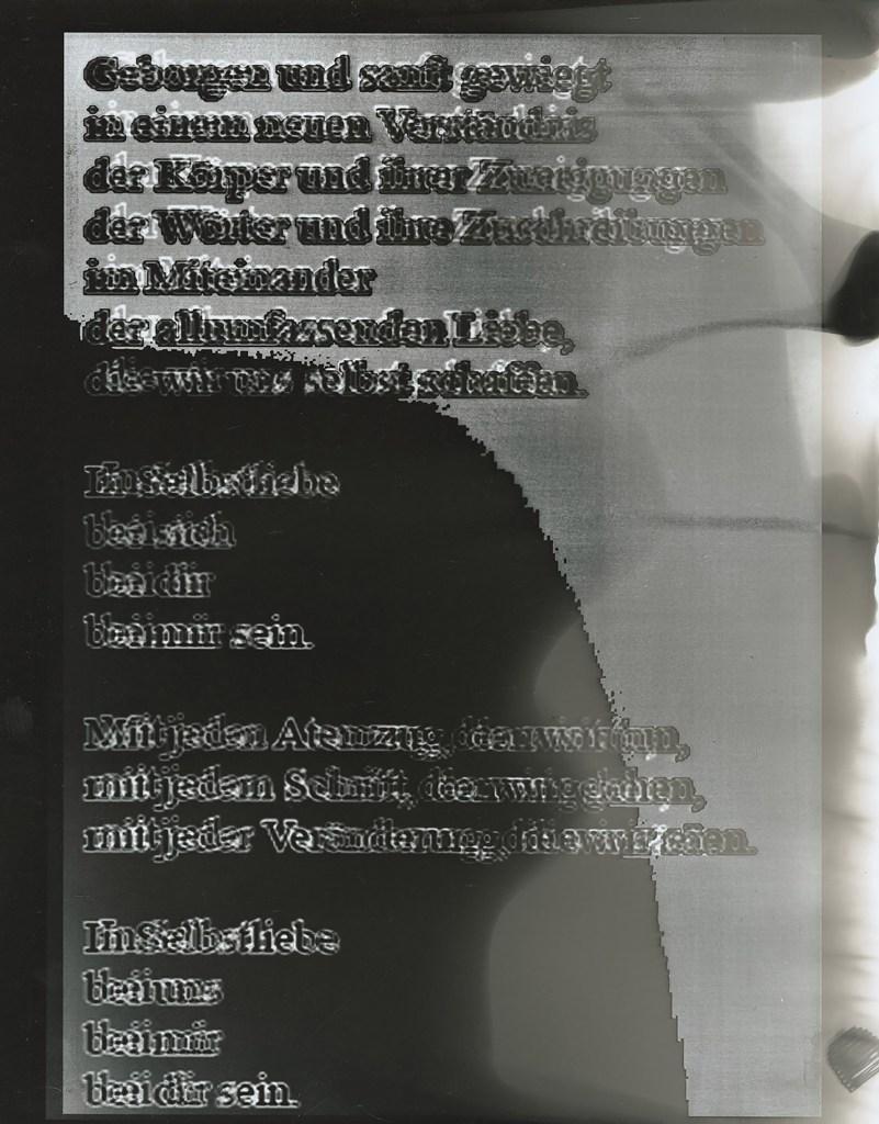 """Lilo Nein, """"Von jetzt über damals bis heute – Gedicht für Ines Rieder"""", Fotografie, 2021"""