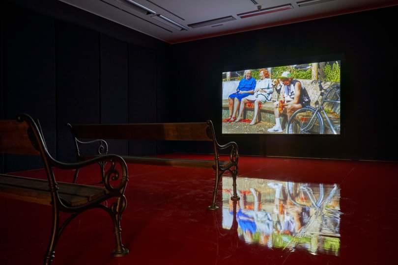 auline Curnier Jardin Qu'un sang impur, 2019 HD-Video 16:05 Min. Courtesy die Künstlerin und Ellen de Bruijne Projects, Amsterdam Foto: Günter Kresser