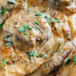 Κοτόπουλο με μαστίχα και ούζο