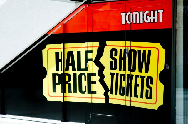 half Price show tickets