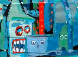 ARTE NEOREAL, óleo sobre lienzo de Juan Canals Carreras