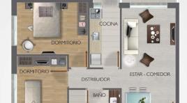 El mejor apartamento de 2 dormitorios con estacionamiento a US$ 147.000