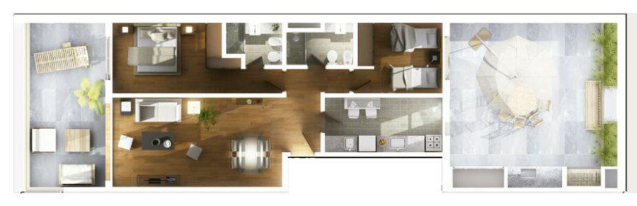 Agras 2 Dormitorios Planos Unidad 101