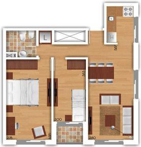 Torres del Rey Plano Unidad 702