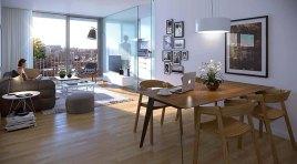 En el Centro con Cocina definida y 35 m2 de Terraza y Patio