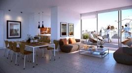 En el Centro último Penthouse con parrillero, Cocina definida y gran Living Comedor