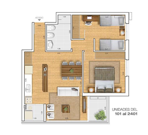 Torre 25 2 dormitorios 01