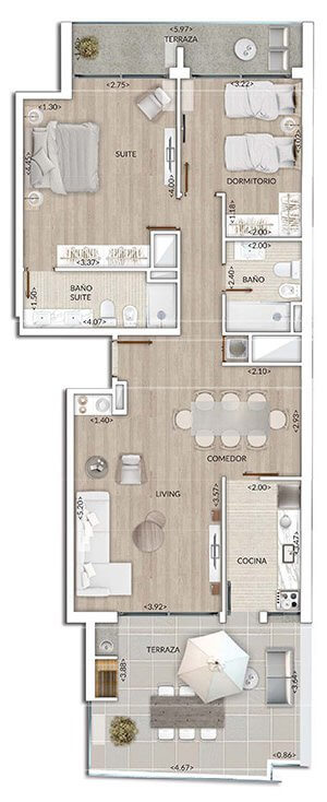 Plano Air Tower 2 DORM PENTHOUSE 1003