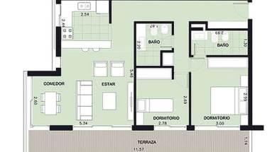 Aquum 2 dormitorios
