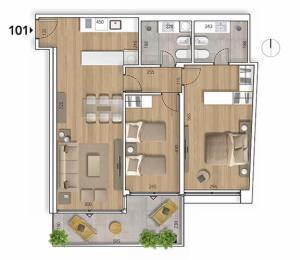 Lyra Plano 2 Dormitorios 101