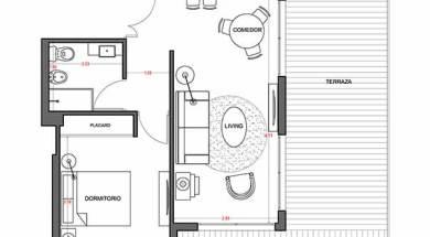 Alquimia – Plano 1 dormitorio con patio 404