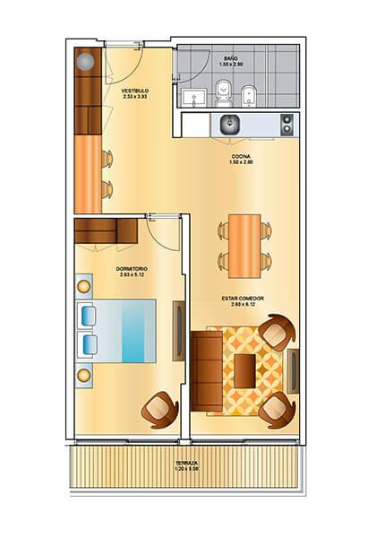 Berro Park - 1 Dormitorio 101