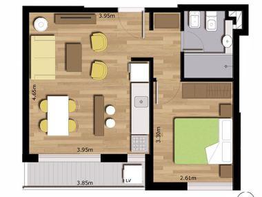 cenit 1 dormitorio plano 102