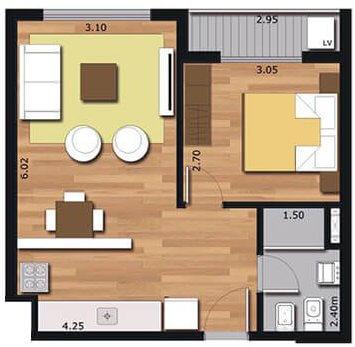 Arrayan 1 dormitorio 012