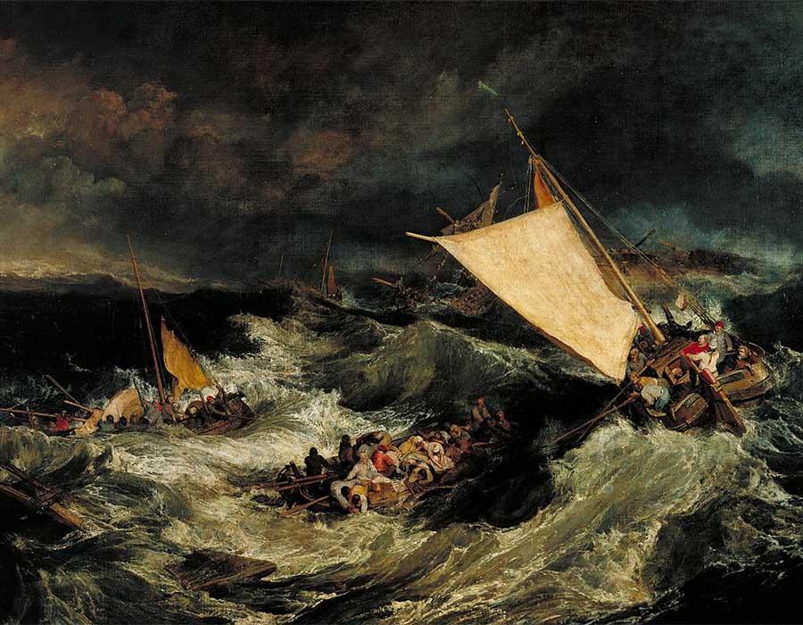Naufrágio (1805), de Turner