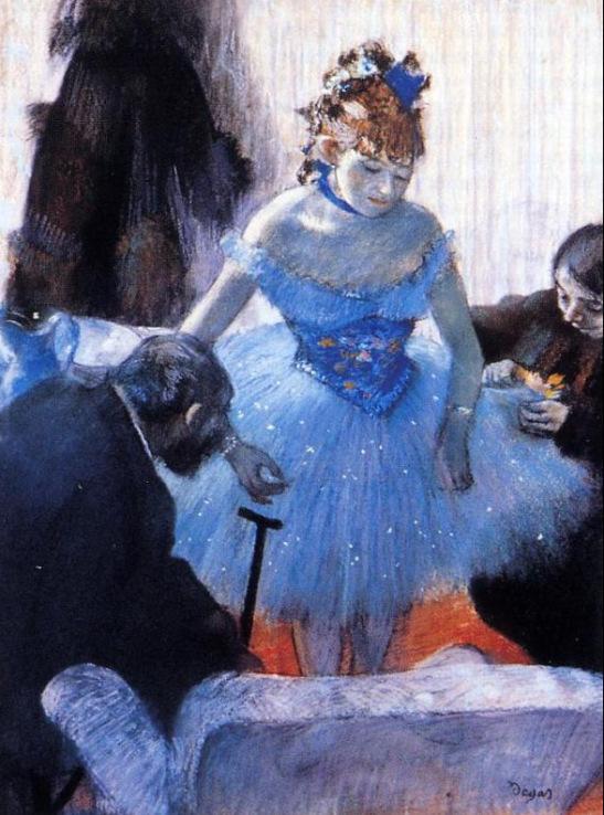 Edgar Degas. Dancer's Dressing Room