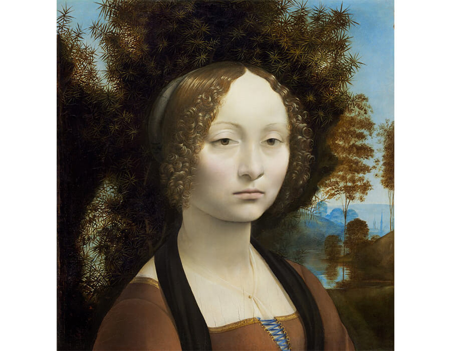 Ginevra de'Benci – Da Vinci – oil in panel – 1474:78