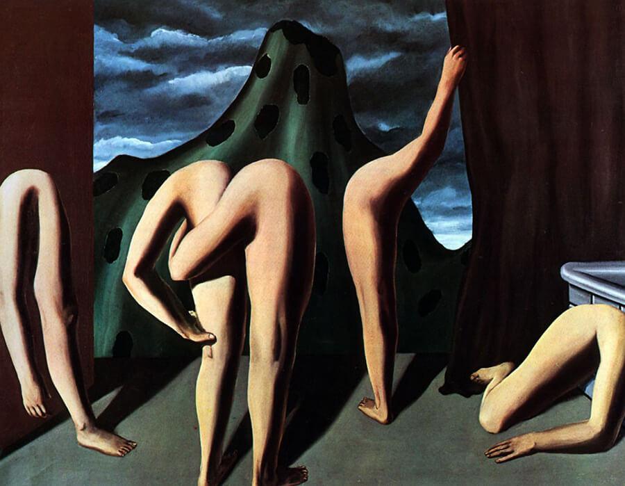 artistas surrealistas; rene-magritte-intermission-900x700