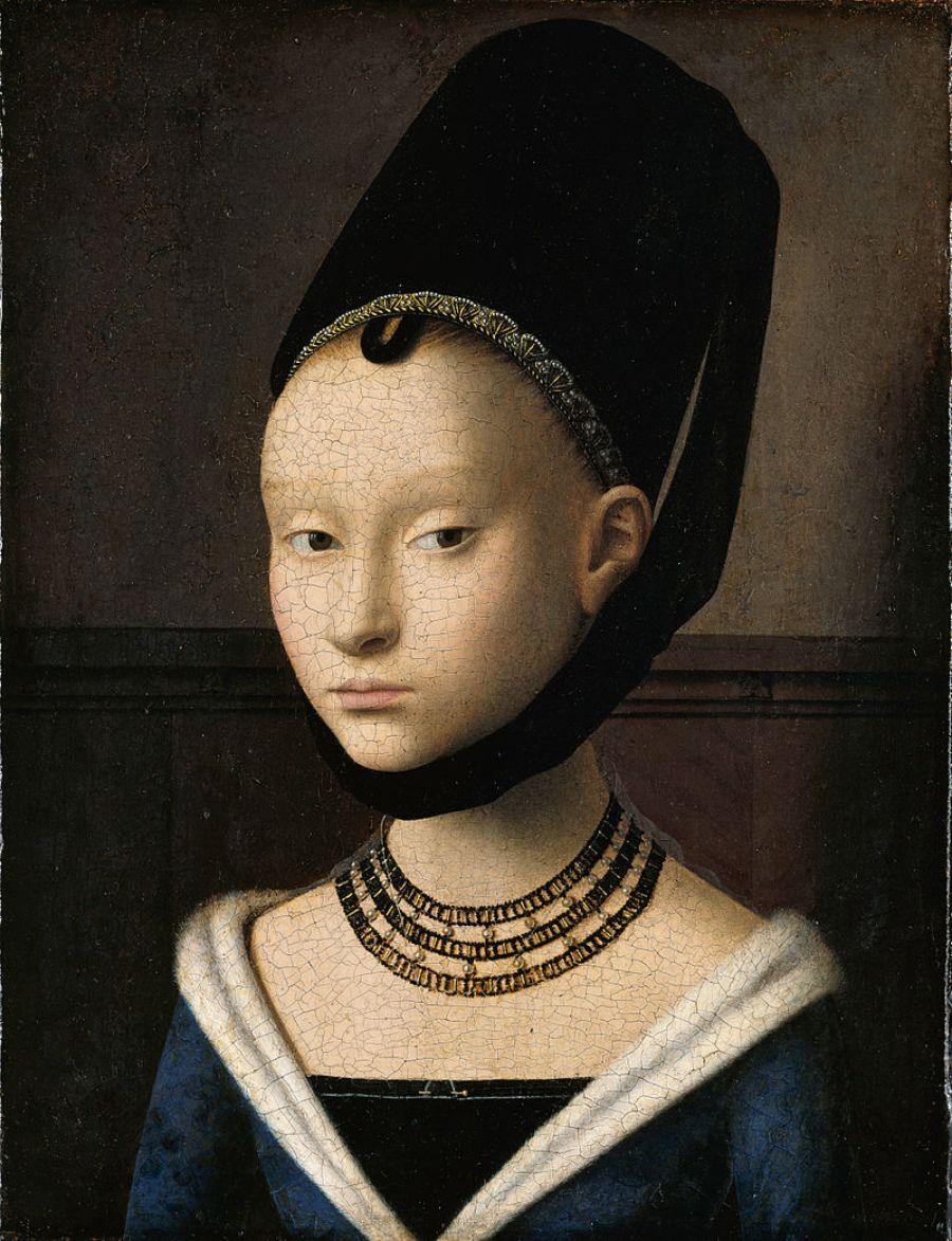 Retrato de uma jovem (1470) - Petrus Christus