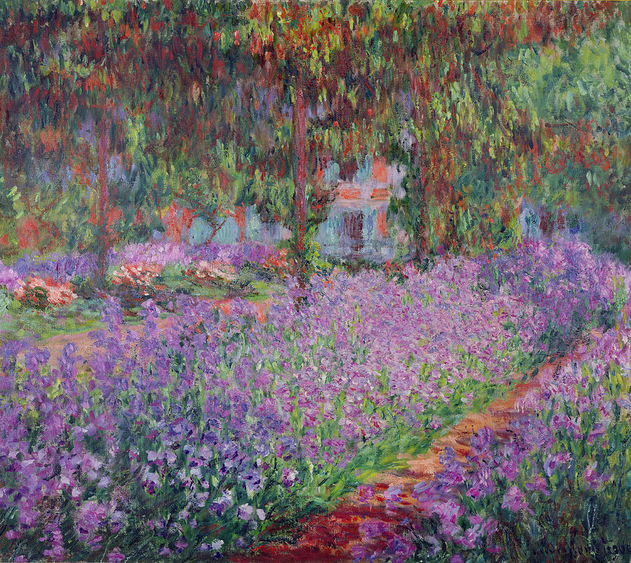 The Artist's Garden at Giverny (1900) - Claude Monet
