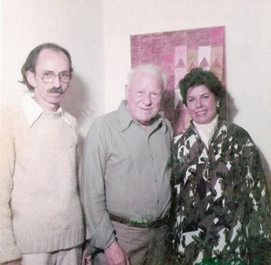 Decio Vieira ao lado de Volpi e Dulce Holzmeister