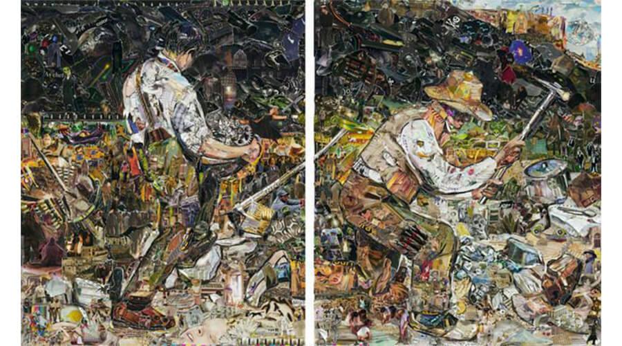 artistas brasileiros; The Stone Breakers, depois de Gustave Courbet