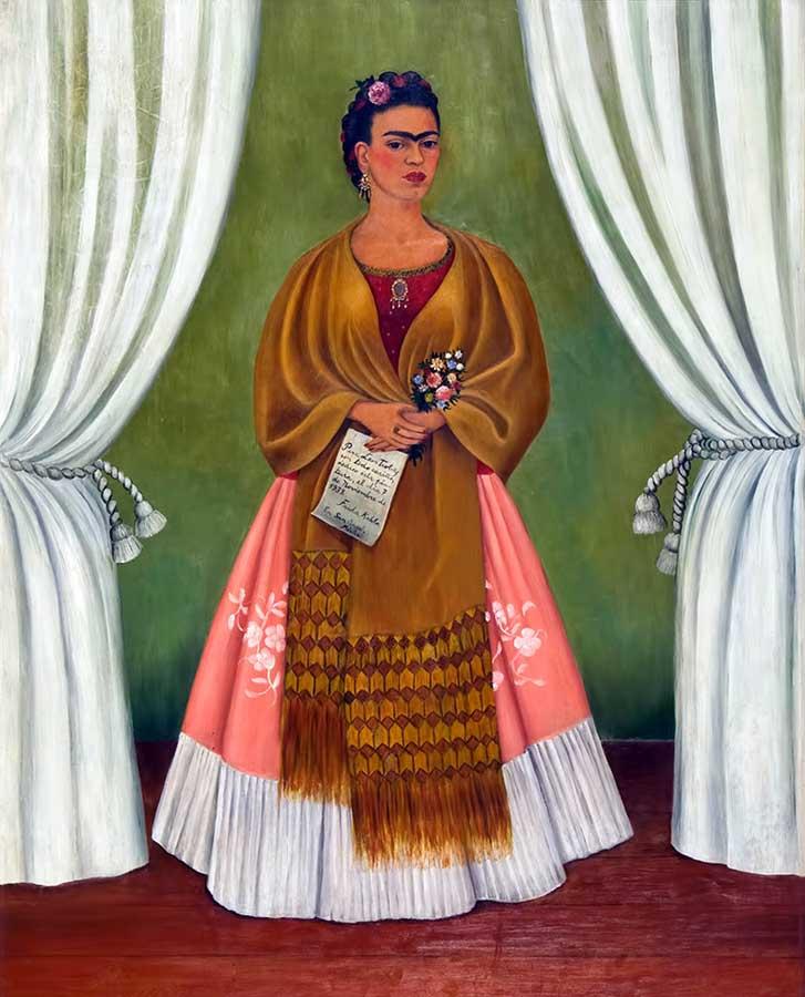 Frida Kahlo – Auto-retrato dedicado à Trotsky - artistas femininas
