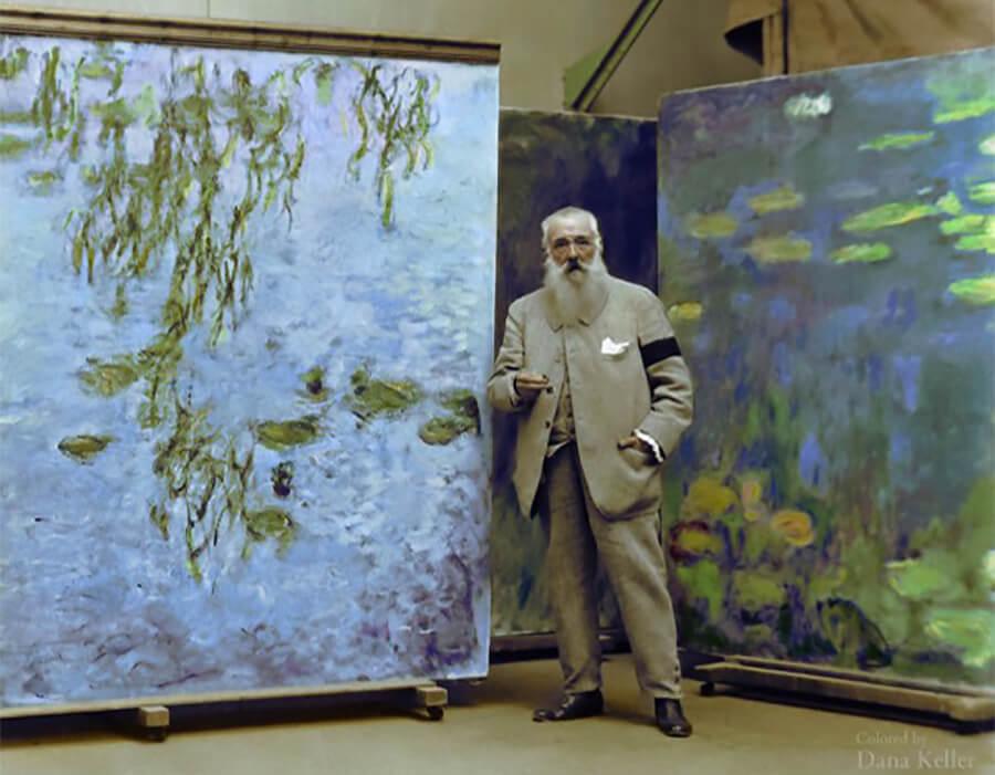 Filme raríssimo mostra Monet pintando as Ninfeias em Giverny