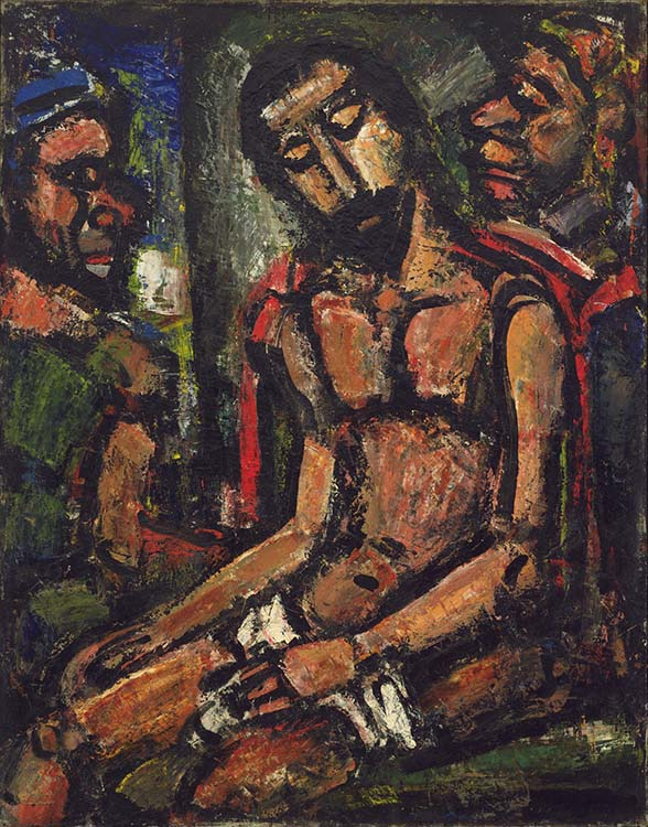 fauvismo; Georges Rouault - Cristo Ridicularizado por Soldados (1932)