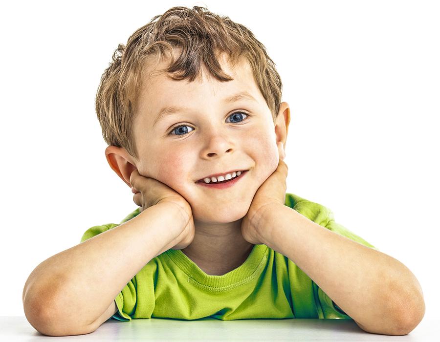 criança sorrindo