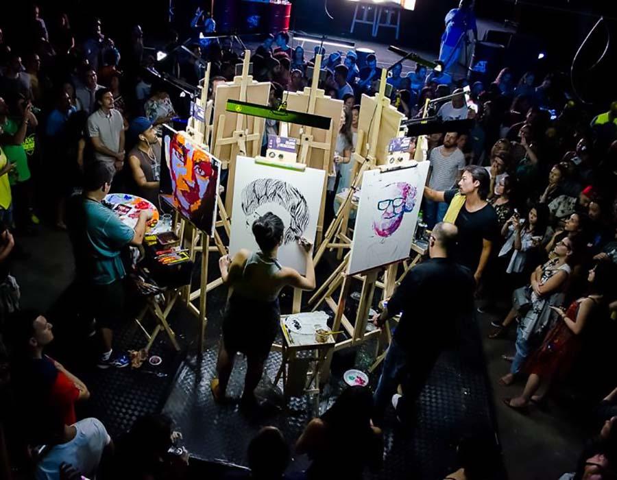 As mulheres no Art Battle Brasil