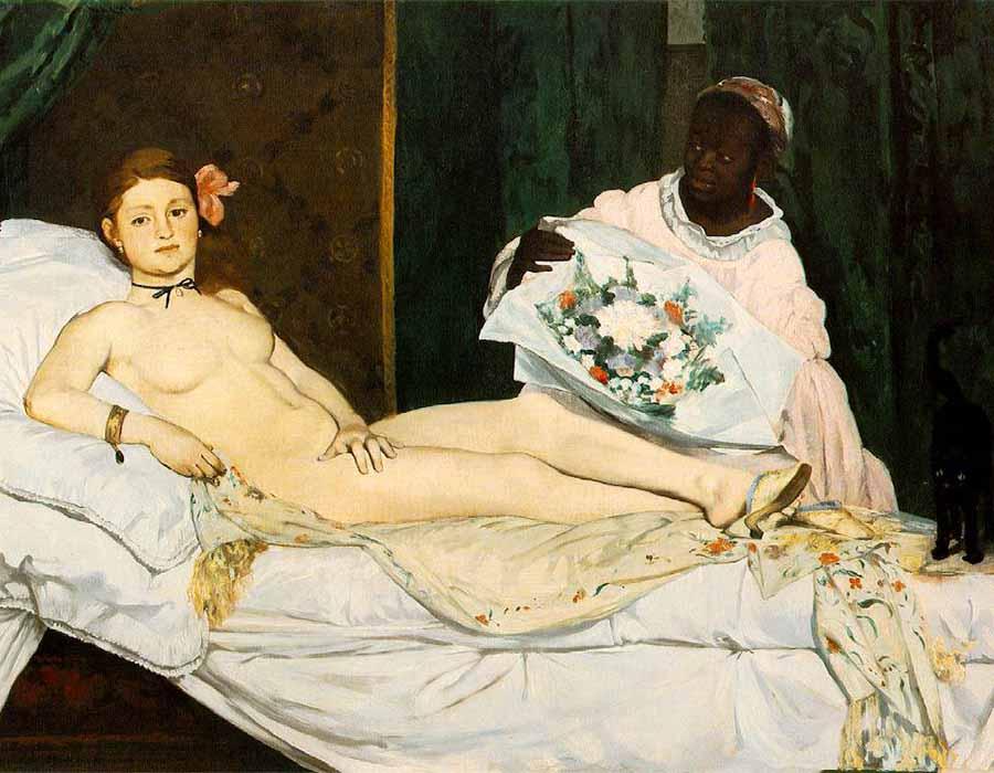 Quem foi a mulher retratada em Olympia de Manet?