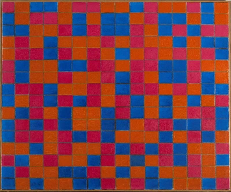 Piet Mondrian   Composition with Grid 8 - Checker board Composition with Dark Colours, 1919